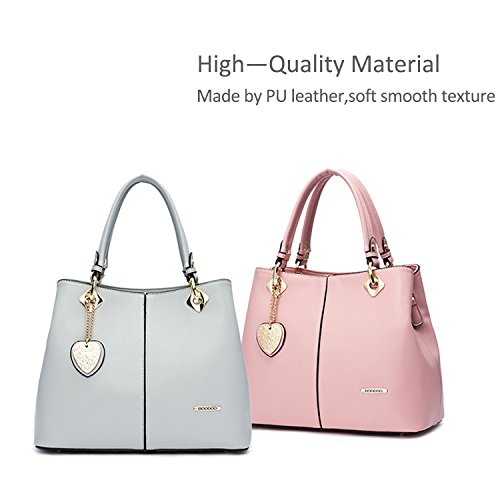 NICOLE&DORIS Neue Mode Damen Handtaschen Umhängetasche Tasche Crossbody Tasche PU Schwarz Grau