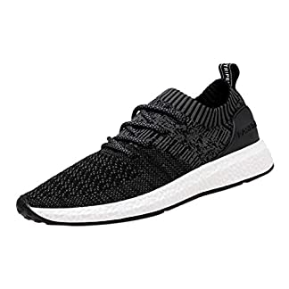 Moonuy MenWear Woven Breathable Sneakers Fashion Large Size Casual Shoes Running Shoes Men's Men's Athletic Shoes Trainers Running Fitness Gym Leisure Sneakers 4