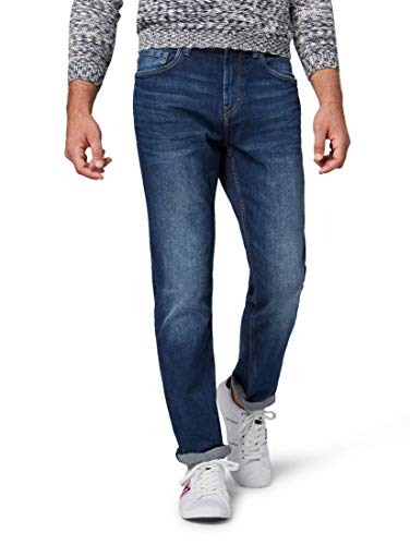 Tom Tailor Casual Herren Slim Jeans Josh,Blau (Mid Stone Wash Denim 10281)W38/L36