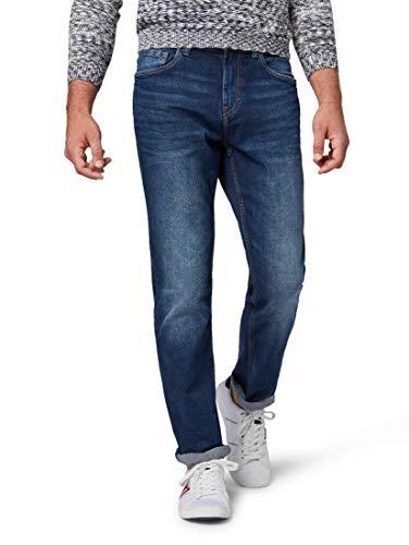 TOM TAILOR für Männer Jeanshosen Josh Regular Slim Jeans mid Stone wash Denim, 33/32