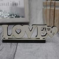 Silver LOVE Sign Stand Personalised for Valentines Day Anniversary Wedding Gift