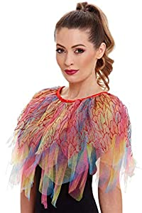 Hen Party Superstore Smiffys 47779 - Capa de pájaro del paraíso, para mujer, multicolor, talla única
