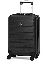 Aerolite ABS Hard Shell 4 Wheel Lightweight Carry On Hand Cabin Luggage Suitcase with Built in TSA Approved 3 Digit Combination Lock, Approved for Ryanair, easyJet, British Airways & More