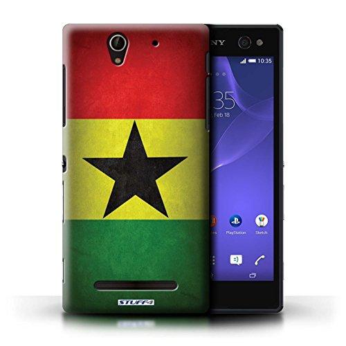Kobalt® Imprimé Etui / Coque pour Sony Xperia C3 / Portugal/portugais conception / Série Drapeau Ghana