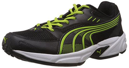 Puma Men's Storm Ind. Black and Lime Punch Running Shoes - 9 UK