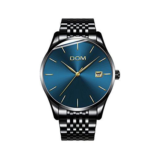 Herren Uhren Mit Datumsanzeige Edelstahl schwarz klassischen Quarz Mesh Band Armbanduhr