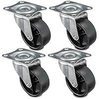 Nirox 4x ruedas para muebles 50mm - Ruedas giratorias giro de 360 grados - Ruedas de transporte altura total de 60mm - Ruedas pivotantes hasta 120kg
