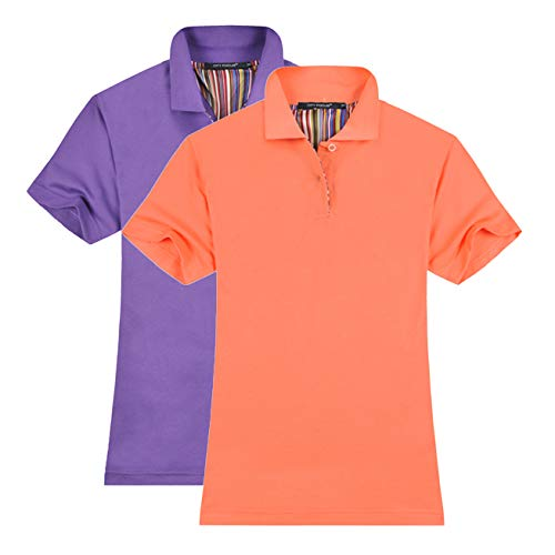 56d2a27a MTTROLI T Shirts Womens Plus Size Ladies Golf Polo Shirts Short Sleeve  Leisure Workwear Pack of