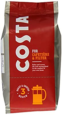 Costa Roast and Ground Coffee, 200g Bag from Costa
