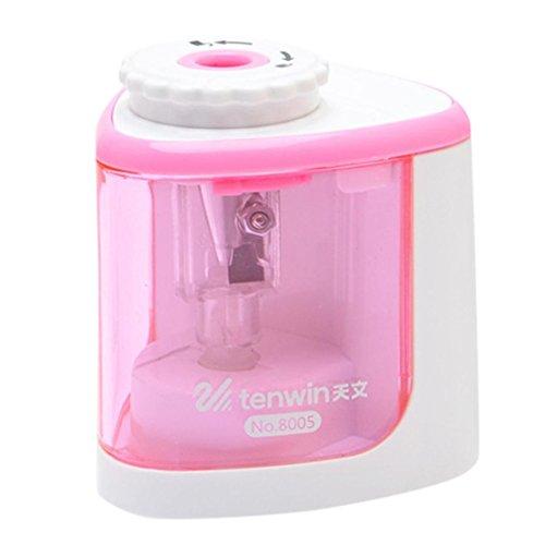 happy event Elektrische Anspitzer, Batteriebetrieben, High Speed Automatische, Für Home Office Schule Klassenzimmer Erwachsene Kinder (Pink)