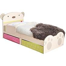 Hello Home 509SNG - Cama infantil con espacio de almacenamiento debajo de la cama, color blanco