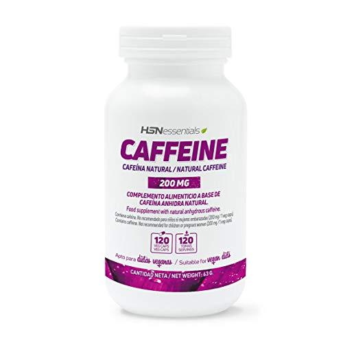 Cafeína Natural de HSN Essentials 200mg - Extracción de Granos de Café Verde, máxima...