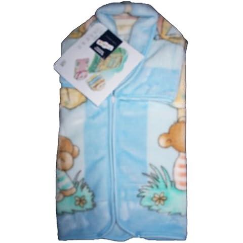babysac Cover Bambino Ragazza 3in 1–N. 627Orso e marionette–Blu