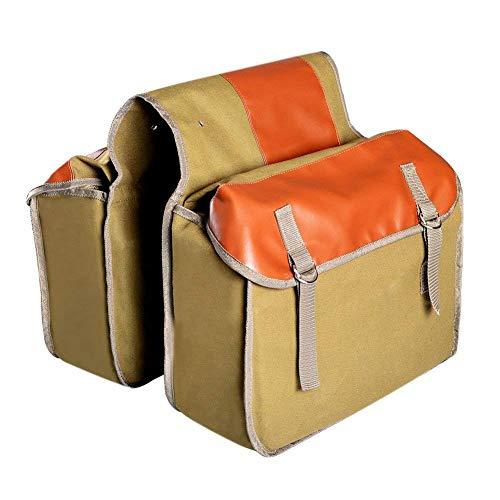 Ferryman Fahrrad-Satteltasche - strapazierfähige Satteltasche mit Doppeltaschen für Cargo, Laptop, Messenger