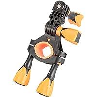 iSHOXS Fahrrad-Halter Bike Mount, ideale Montagebasis für GoPro Hero und kompatible Action-Kameras zur Anbringung an Karts, Motorrädern, Überrollbügeln oder Fahrrad-Lenker