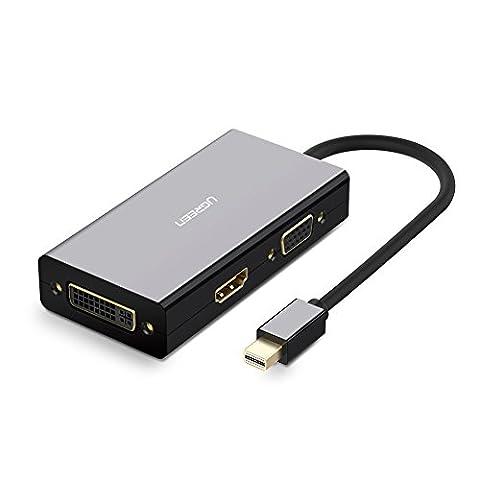 UGREEN Adaptateur Mini DisplayPort Mâle vers HDMI VGA DVI Femelle Résolution 4K 1080P pour Macbook
