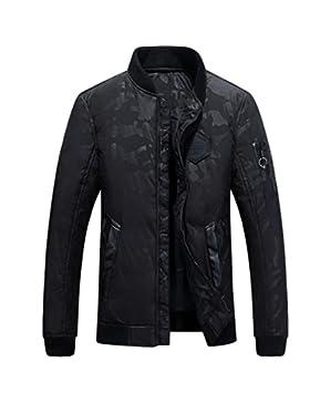 MHGAO Chaqueta de la ropa de invierno de los nuevos hombres de Down , black , xxxl