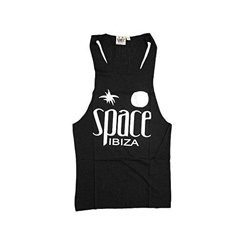 Space Ibiza: Nativo Canotta Uomo con Dorso a Vogatore Nero