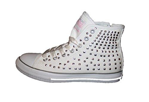 Geox-j cIAK g. p-cANVAS j8104P chaussures bottes fille Blanc - Blanc
