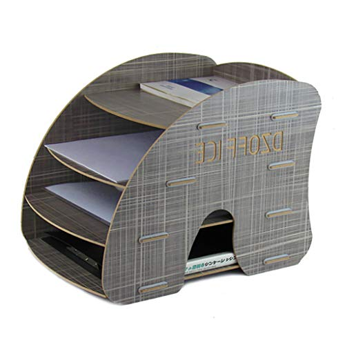 LQwjj Archivadores con Espiral Caja de Almacenamiento de 3 kg de Grosor de 1,4 kg, Marco de información Promocional Multicapa Opcional, Marco de Archivo de Papel de Madera A4 Archivadores