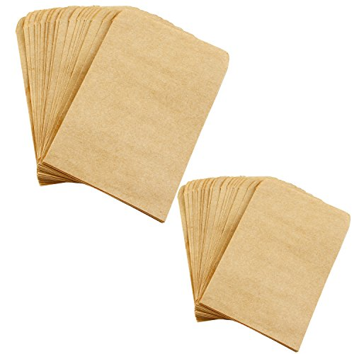 aneco 200Stück Samen Umschläge Kraft Samen Papier Taschen Mini Medaille der Pakete Umschläge für Haus und Garten Gebrauch, 2Größe