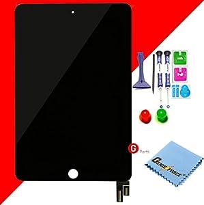Premium? Retina LCD Display Touchscreen Glas Digitizer für iPad Mini 4 - SCHWARZ. Komplett LCD Display Assembly - inkl. BEST® NANO Profi 8-in-1 Werkzeug- und Reinigungset - SCHWARZ BLACK