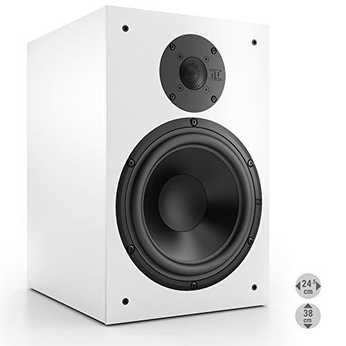 Nubert nuBox 383 Regallautsprecher | Lautsprecher für Stereo & Musikgenuss | Heimkino & HiFi Qualität auf hohem Niveau | Passive Regalbox mit 2 Wege Technik | Kompaktlautsprecher Weiß | 1 Stück