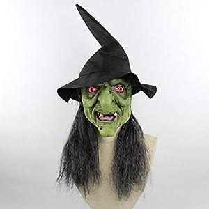 QCHNES Cabeza Verde de Halloween