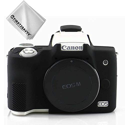 First2savv Rubber Camera Case Bag Full Cover for Canon EOS M50 XJPT-EOS M50-GJ-01