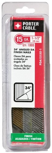 PORTER-CABLE PDA15150-1 1-1/2-Inch, 15 Gauge Finish Nails (1000-Pack) by PORTER-CABLE
