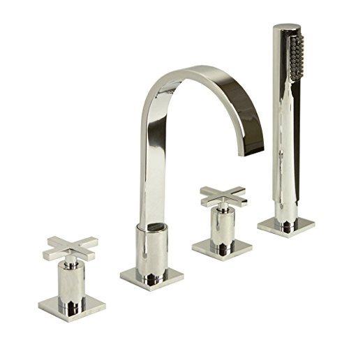 cromo-quattro-buco-miscelatore-doccia-vasca-rubinetto-con-testa-trasversale-maniglie-e-quadrato-bocc