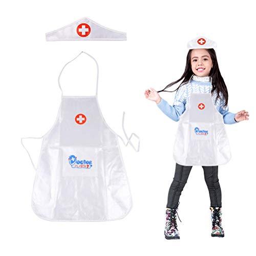 Daxoon Kinderkostüm für Jungen und Mädchen, Ärztin, Halloween-Kostüm, mit medizinischem - Wissenschaftler Kostüm Mädchen