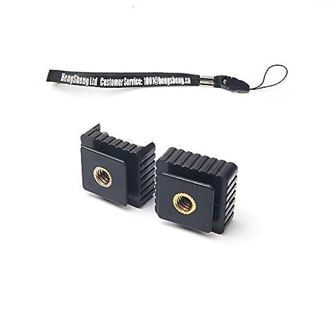 Beau Lot de 2Camera Base adaptateur de monture Sabot de flash en métal avec 1/10,2cm Filetage pour studio Light support trépied