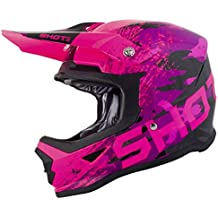 SHOT Casco Cross Furious Counter Kid, Rosa, talla YL