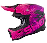 SHOT Casco Cross Furious Counter Kid, Rosa, Taglia Ys