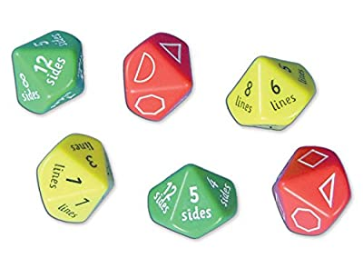 "Inspirational Classrooms 3108304 ""2D Shape Dice by EdTech"