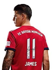 FC Bayern München Trikot Home, James Rodriguez, Rückennummer mit Unterschrift Flock, Jersey 18/19 Größe M