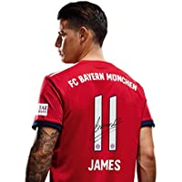 FC Bayern München Trikot Home Kinder/Rückennummer mit Unterschriften Flock/Jersey 18/19