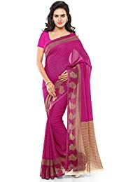 Kashvi Sarees Women's Faux Georgette Saree With Blouse Piece (1168_3,Multicolor,Free Size)