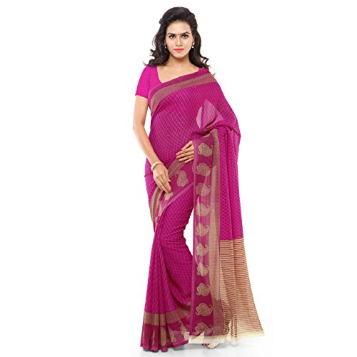Kashvi Sarees Faux Georgette Pink & Multi Color Printed Saree With Blouse Piece ( 1168_3 )  available at amazon for Rs.199