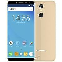 """OUKITEL C8 Smartphone Libre 4G (Android 7.0, 5.5"""" HD Pantalla 18:9, Cámara 13MP+5MP, Dual SIM, 2GB RAM + 16GB ROM, MT6737 Quad Core, Batería de 3000Ah, Identificación de Huellas)"""