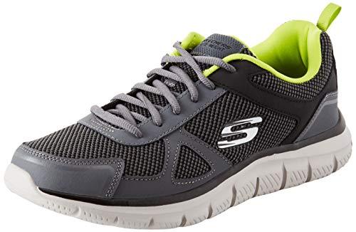 4e8a15c38c6cf Skechers Herren Track Laufschuhe Grau (Charcoal/Lime) 45 EU