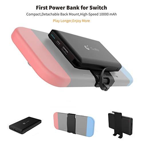 Gulikit Power Bank Kompatibel für Nintendo Switch Batterieladung Backup, 10000mAh Typ-c / USB Eine Tragbare Power Bank mit Zwei Ausgängen für Switches, Handys Usw. Geräte