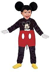 Idea Regalo - Ciao 11247.18-24 - Disney Costume Baby Mickey Classic, Nero/Rosso, 18-24 mesi