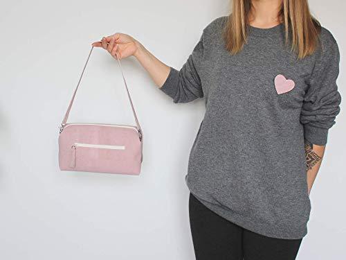 Kork Handtasche, Umhängetasche, vegan, rosa Schultertasche, Geschenk, - 3