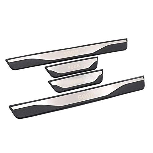 LFOTPP Edelstahl Einstiegsleisten Abdeckung für 5008 SUV Türschweller 4 Stück
