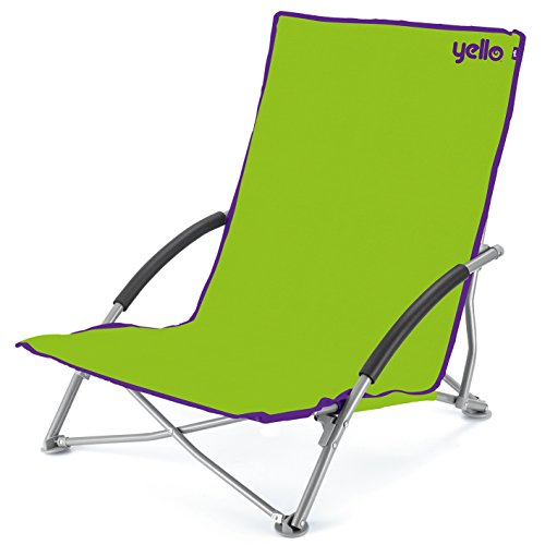 Yello Low Beach Folding Chair, Green, 64 x 57 x 65 cm