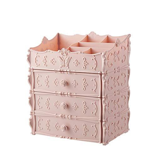 SKFG ® multifonctionnel maquillage rangement maquillage organisateur cosmétiques tiroirs de stockage cosmétiques en plastique organisateur de bijoux présentoir pour le stockage,Pink,StyleA