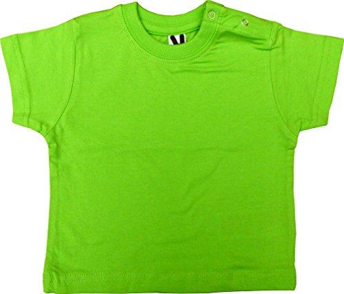 Baby T-Shirt Rundhals, Kurzarm, 6564, Hellgrün, Gr. 12M