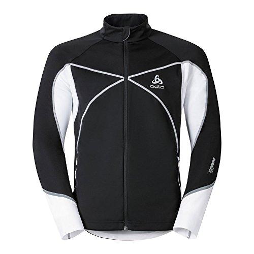 Odlo Herren Jacket Nagano X Windstopper Jacke, Black-White, XL